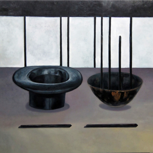 , '帽子、筷子和碗,' 2013, Asia Art Center