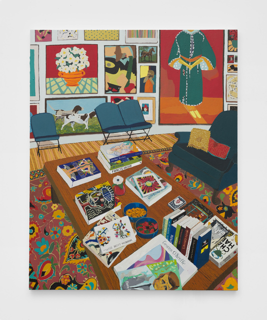 , 'Interior with Books and Paintings,' 2019, The Pit