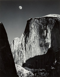 Half Dome and Moon, Yosemite National Park, California