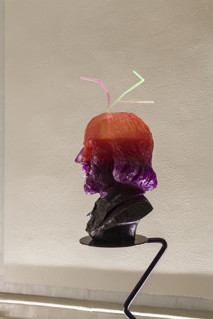 , 'Half-Drunk Purple-Orange Shakespeare (with Teeth & 3 Straws),' 2014, International Manifesta Foundation