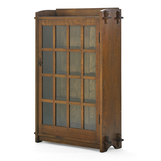 Gustav Stickley, 'Single Door Bookcase With Keyed Through-Tenons, Eastwood, NY', ca. 1904, Rago/Wright