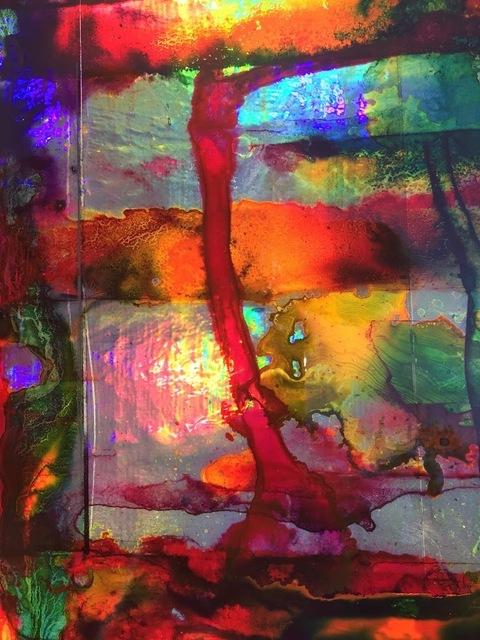 , 'Untitled (Acid Flag I) detail,' 2017, ArtHelix Gallery