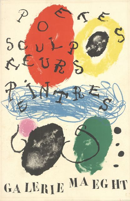 Joan Miró, 'Poets, Sculptors, Painters', 1960, Ephemera or Merchandise, Stone Lithograph, ArtWise