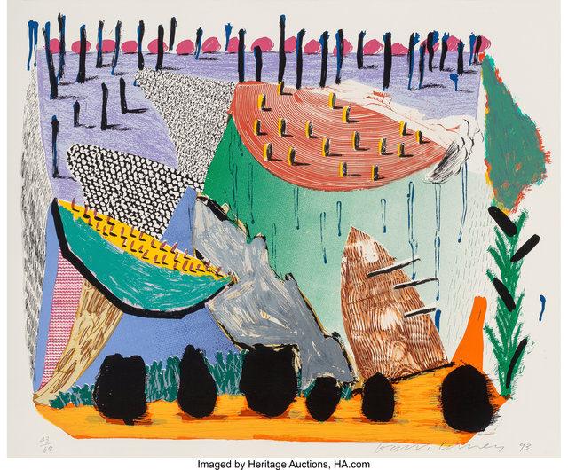 David Hockney, 'Slow Rise', 1993-94, Heritage Auctions