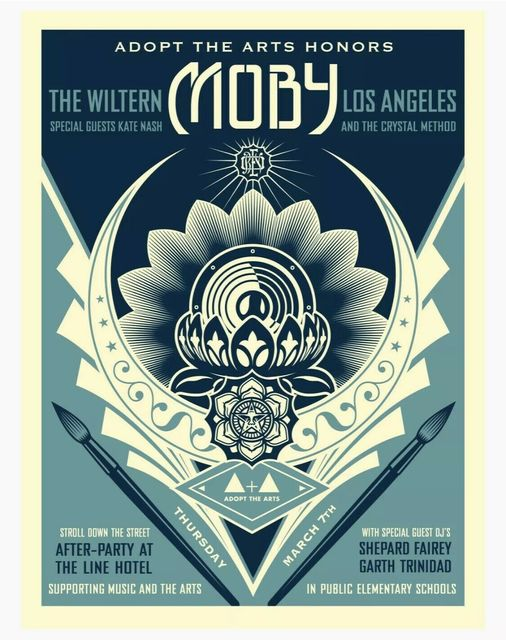 Shepard Fairey (OBEY), 'Moby', 2019, New Union Gallery