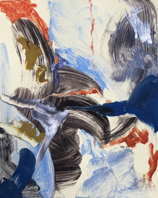 Sarah J. Berman, 'Untitled', 2019, Drawing, Collage or other Work on Paper, Oil Monoprint on Rives BFK, The Art House