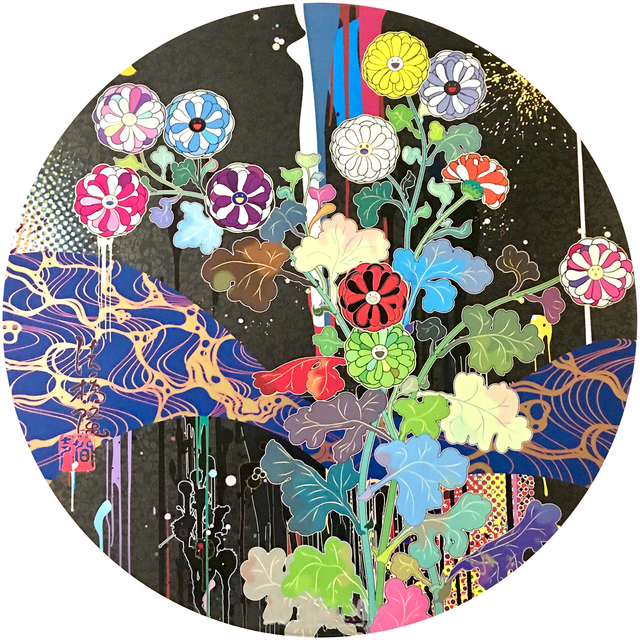 Takashi Murakami, 'Korin: Stellar River in the Heavens', 2015, Print, Offset printing in 4 colors and foil and thick fill varnish, Lougher Contemporary