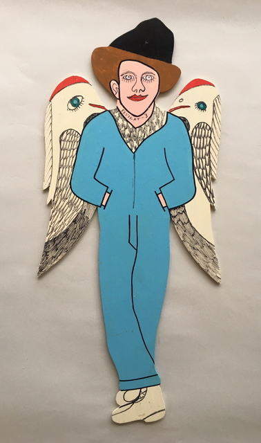 Howard Finster, 'Elvis at 3 - with Birds on Wings', 1990, Beatrice Wood Center for the Arts