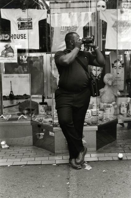 Helen Levitt, 'New York (man with camera)', 1988, Laurence Miller Gallery