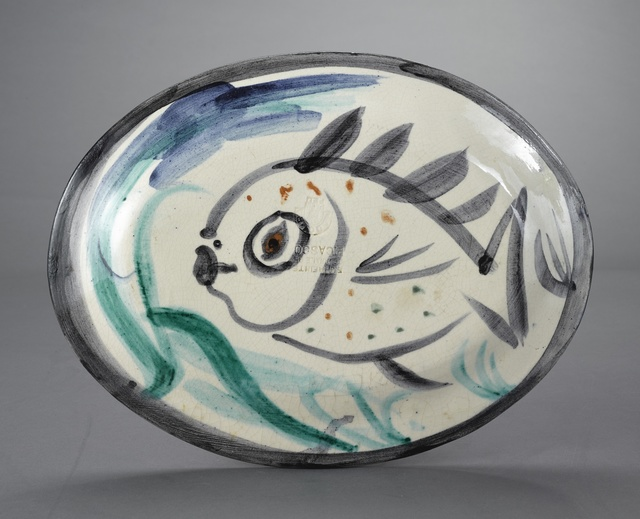 Pablo Picasso, 'Poisson de profil (A.R. 132)', 1951, Other, Terre de faïence platter, painted in colors and glazed, Sotheby's
