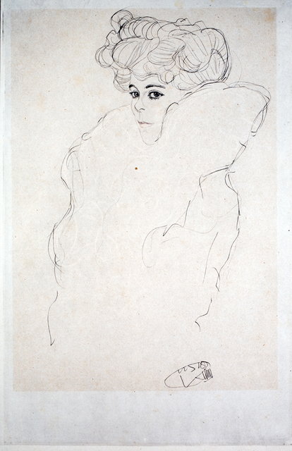 "Gustav Klimt, 'Study for ""Woman in a Boa"" [Fünfundzwanzig Handzeichnungen]', 1919, Jason Jacques Gallery"