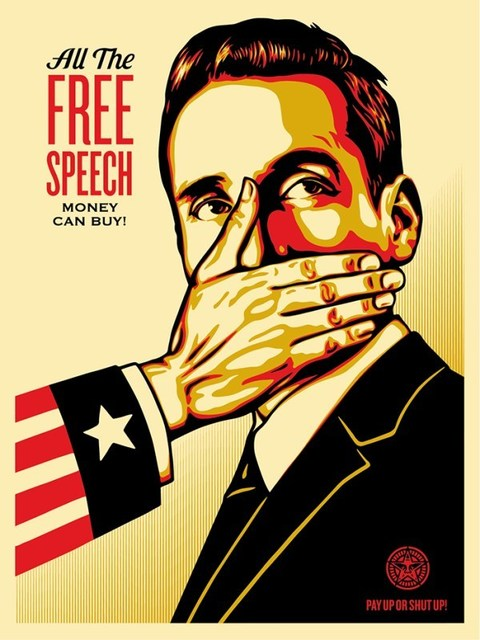 Shepard Fairey (OBEY), 'Pay Up or Shut Up', 2015, Dope! Gallery