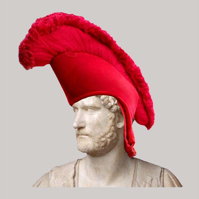 , 'Roman Emperor Adrian/Red Tibetan Hat,' 2018, JAUS