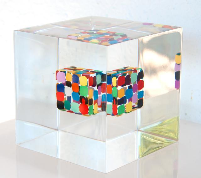 Susi Kramer, 'Cube in Cube-Würfel in Würfel (W201205)', 2020, Sculpture, Painted cube cast in acrylic glass,, Claudine Gil