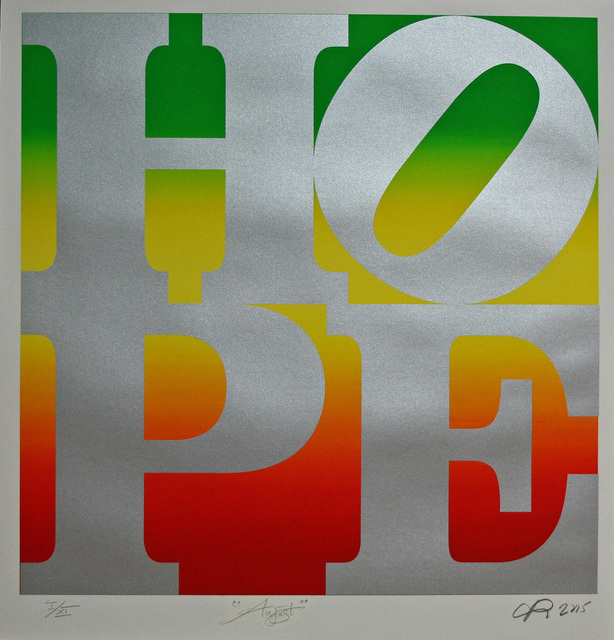 , 'HOPE August (silver over green-yellow-red rainbow roll) ,' 2015, Contini Art Gallery