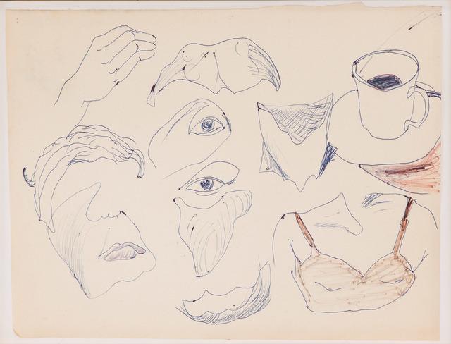 , 'Gesichtsteile (mit Kaffeetasse),' 1965, Beck & Eggeling