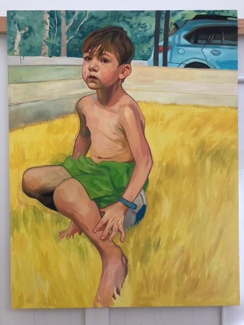 , 'Boy Sitting in Yellow,' 2019, Hexton Gallery