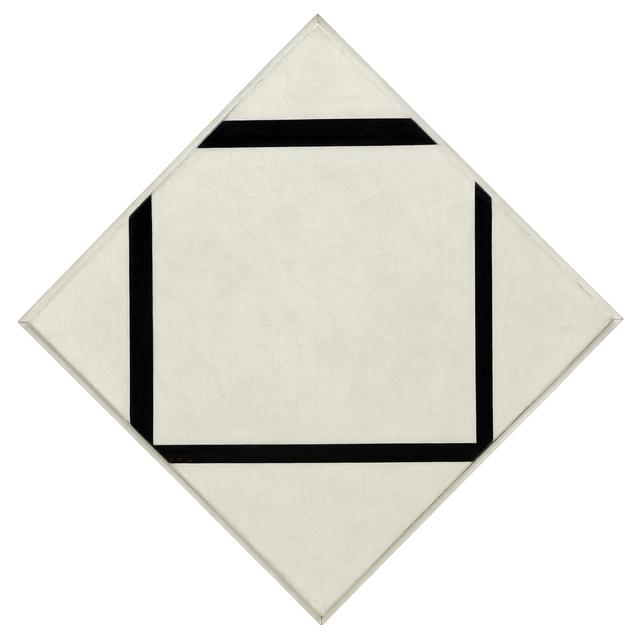 Piet Mondrian, 'Composition No. 1: Lozenge with Four Lines,', 1930, Guggenheim Museum