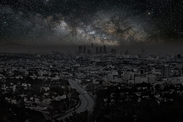, 'Los Angeles 34° 03' 20'' N 2010-10-9 lst 21:50,' 2012, Danziger Gallery