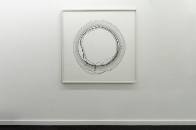 Jill Baroff, ''Round Midnight (Evidence)', 2014, Drawing, Collage or other Work on Paper, Pigmented ink on Japanese gampi mounted on rag, Bartha Contemporary
