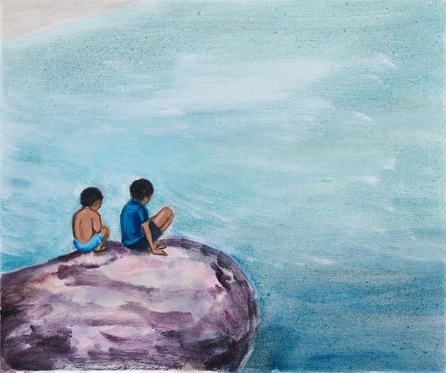 Matthew Krishanu, 'Boys on a Rock', 2018, Jhaveri Contemporary