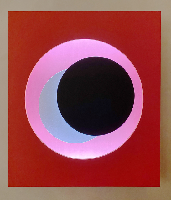 Geneviève Claisse, 'Cercle Relief Rouge', 1971-1975, Peyton Wright Gallery