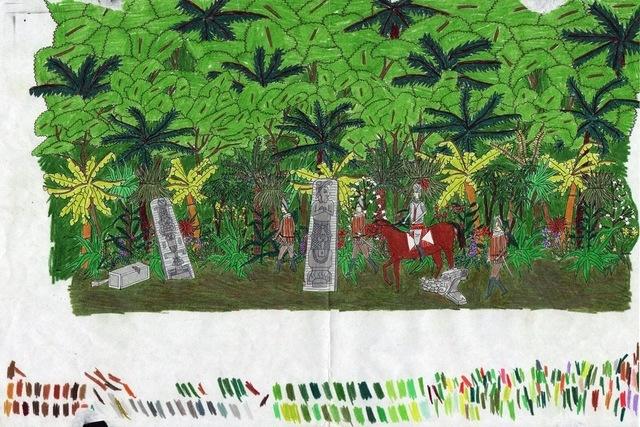 , 'L'arrivée de Cortés - Étude,' 2006, Division Gallery