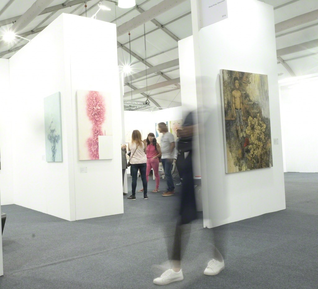 Installation View of  Li Liang`s works at The Dragon Year Booth at Art Central 2017