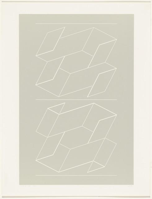 Josef Albers, 'WEG V from White Embossings on Gray (WEG)', 1971, Print, Embossed line on Roleaf paper, Friends Seminary Benefit Auction