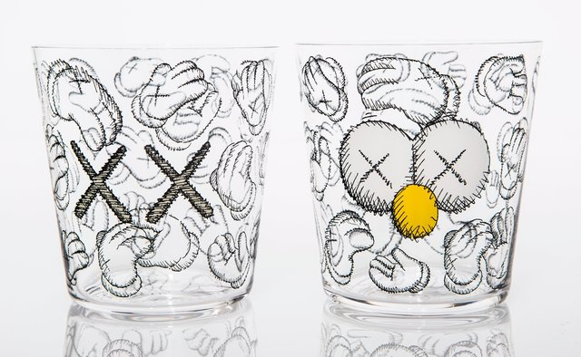 KAWS, 'Seeing/Watching, set of four glasses', 2018, Heritage Auctions