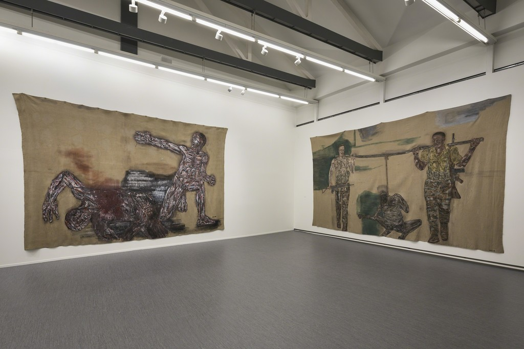"View of the exhibition ""Leon Golub""
