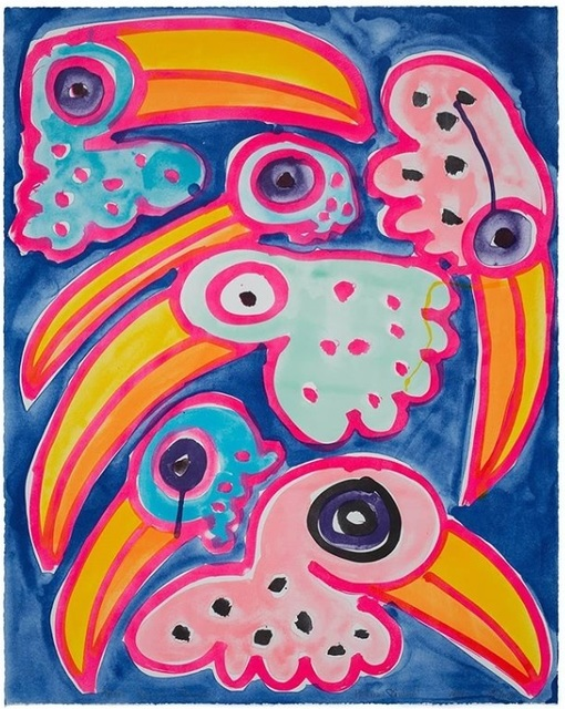 Katherine Bernhardt, 'Toco Toucan Toucano', 2020, Print, Lithograph in colours, on Somerset Velvet 300 gsm, FNG-Art
