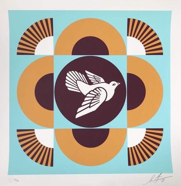 Shepard Fairey, 'Dove Geometric (blue background)', 2018, DIGARD AUCTION