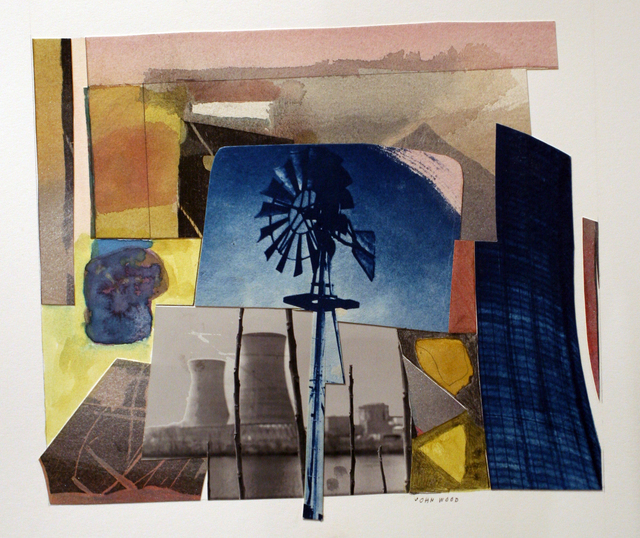 , 'Windmill and Cooling Tower,' 2000, Bruce Silverstein Gallery
