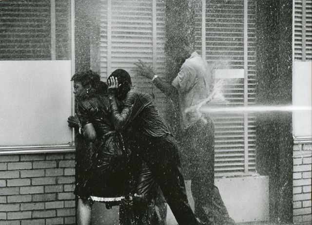 , 'Alabama Fire Department Aims High-Pressure Water Hoses at Civil Rights Demonstrators, Birmingham Protests, ,' 1963, Steven Kasher Gallery