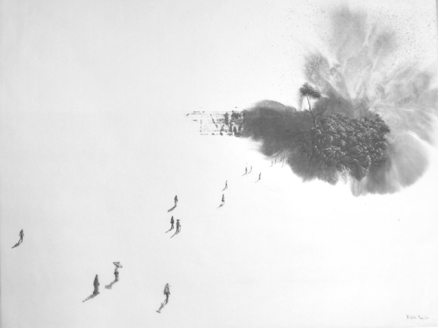 , 'Landscape born from a single brushstroke I,' 2014, Galerie Dumonteil