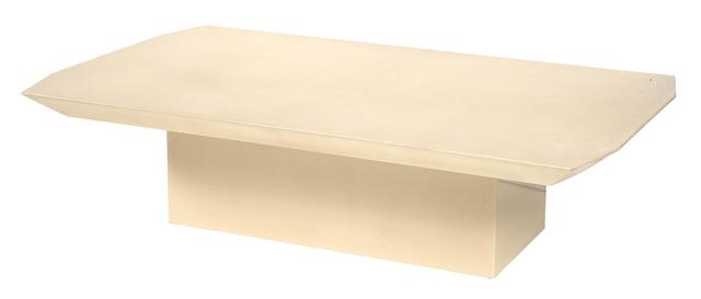 'Lacquered Vellum Low Table, Manner of Karl Springer', Design/Decorative Art, Doyle