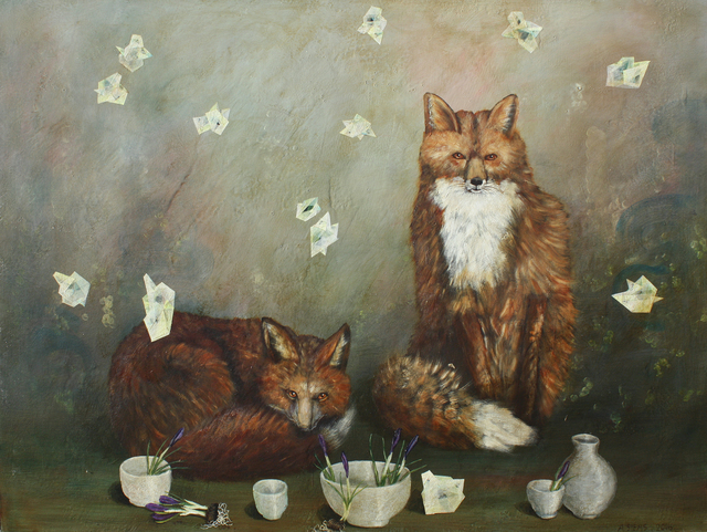 , 'Foxes and Cups,' , Gail Severn Gallery