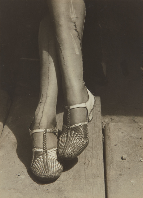 Dorothea Lange, 'A Sign of the Times–Mended Stockings, Stenographer, San Francisco', 1934, Phillips