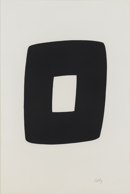 , 'Black with White,' 1964-1965, Susan Sheehan Gallery
