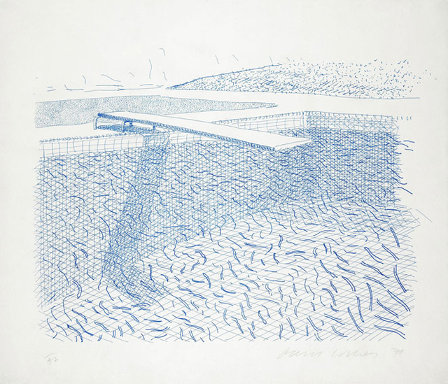 David Hockney, 'Lithograph of Water Made of Lines', 1978-1980, Upsilon Gallery