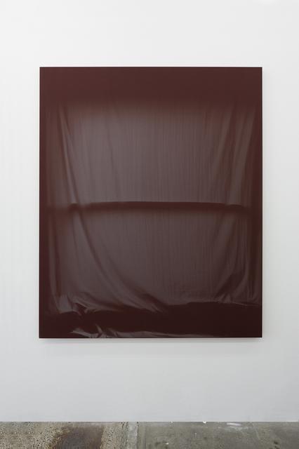 , 'Bedroom Window (Maroon) 6 Month Exposure. Spring-Fall 2014,' 2015, V1 Gallery
