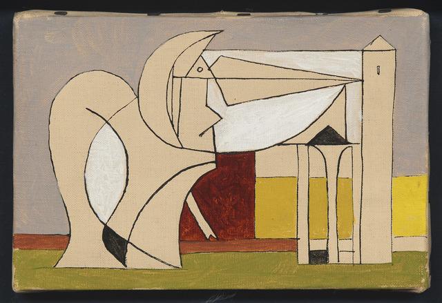 Óscar Domínguez, 'Figura con arquitecturas', 1956, DICKINSON
