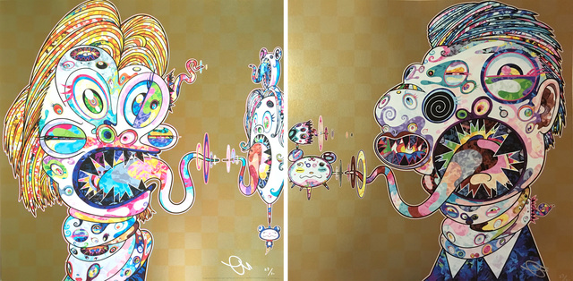 Takashi Murakami, 'Homage to Francis Bacon (Study of Isabel Rawsthorne and George Dyer)', 2016, Hang-Up Gallery
