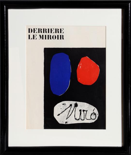 Joan Miró, 'Derriere le Miroir (Cover)', 1953, Print, Lithograph, RoGallery