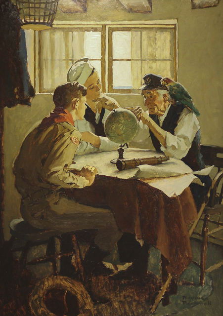 """Norman Rockwell, 'Study for """"Scouts of Many Trails""""', ca. 1937, Heather James Fine Art"""