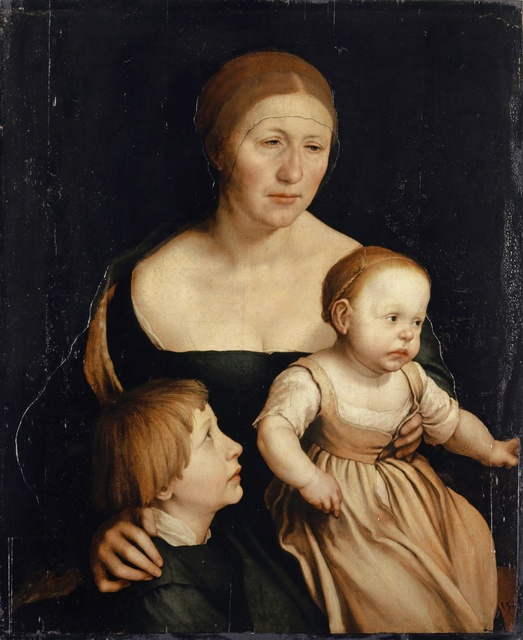, 'Portrait of the Holbein family: The Artist's Wife and the Two Eldest Children,' 1528, Kunstmuseum Basel