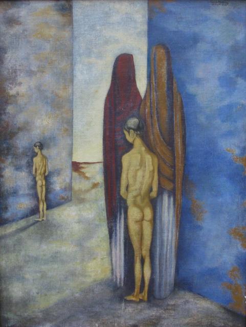 , 'Niña con mujeres,' 1945, Oscar Roman