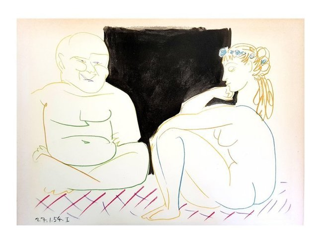 """Pablo Picasso, 'Lithograph """"Human Comedy XI"""" after Pablo Picasso', 1954, Galerie Philia"""