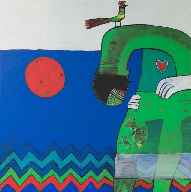 , 'Love for the Red Moon / حب للقمر الاحمر,' 2018, al markhiya gallery